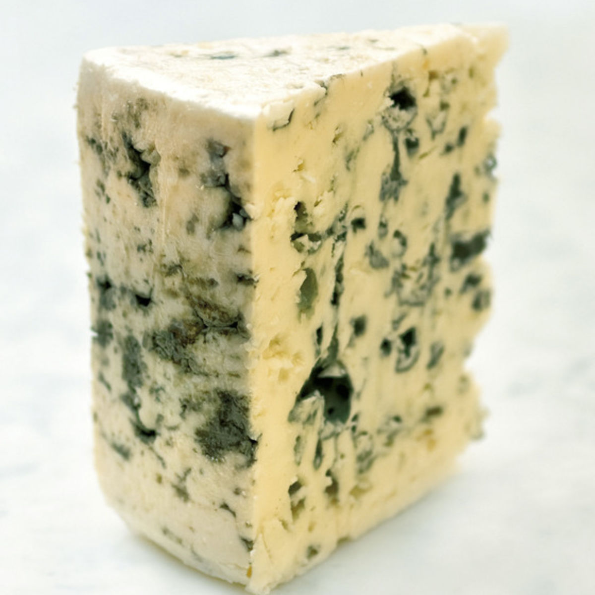 The picture shows a piece of noble-mold cheese.