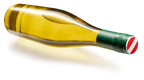 A picture shows a bottle of Austrian Wine
