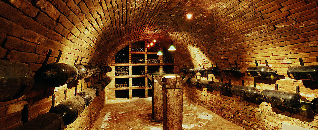 A picture shows an Old Wine Cellar