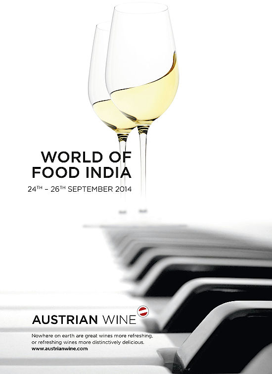 This picture shows the catalogue cover of World of Food India 2014