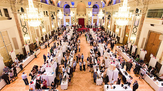 A picture shows Impressions from VieVinum wine fair