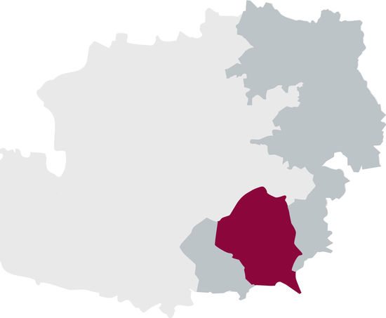 The picture shows the DAC region Vulkanland Steiermark