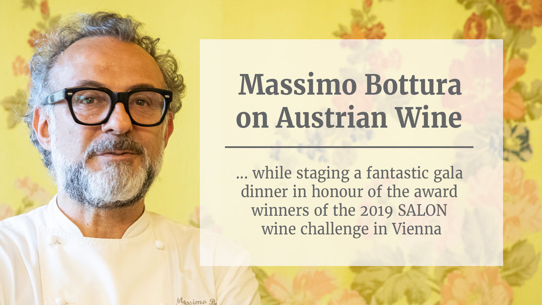 A picture shows a screenshot from the interview with Massimo Bottura,  © AWMB