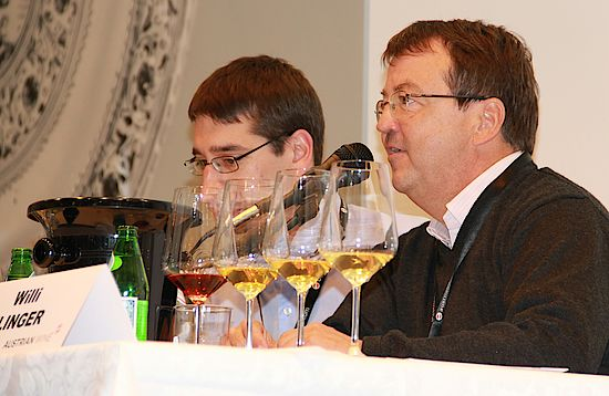 Christian Zechmeister and Willi Klinger at the European Wine Bloggers Conference 2011