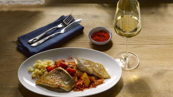 Pikeperch with white wine