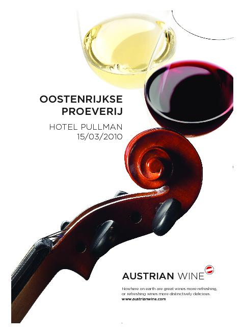 This picture shows the cover of the catalog of the Annual Tasting in Brussels