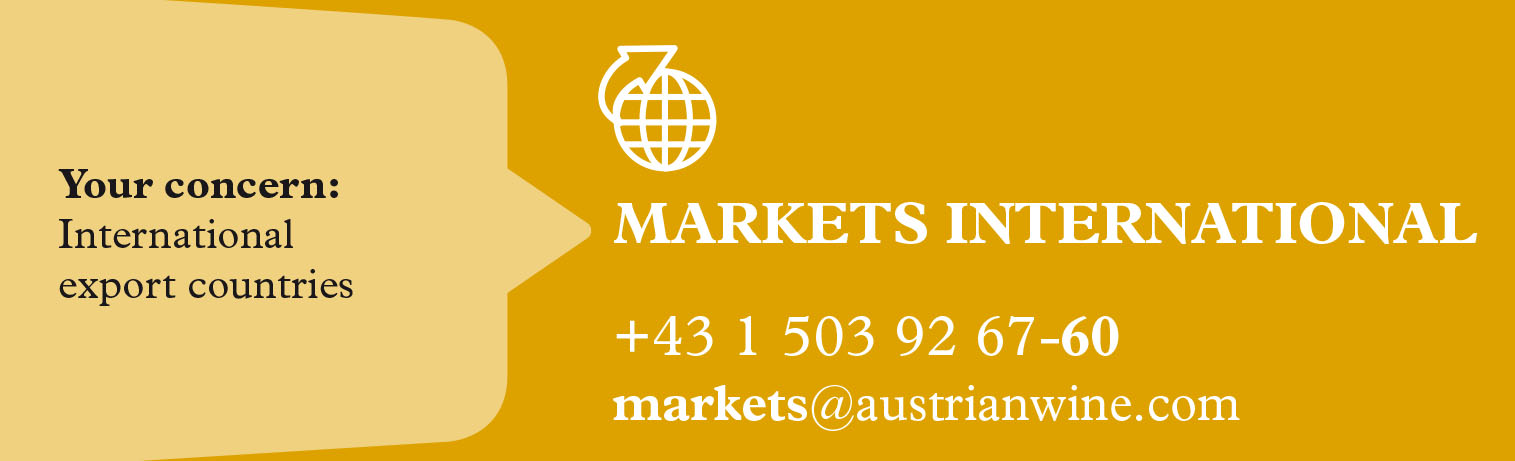 The picture shows the contact information of the markets international team